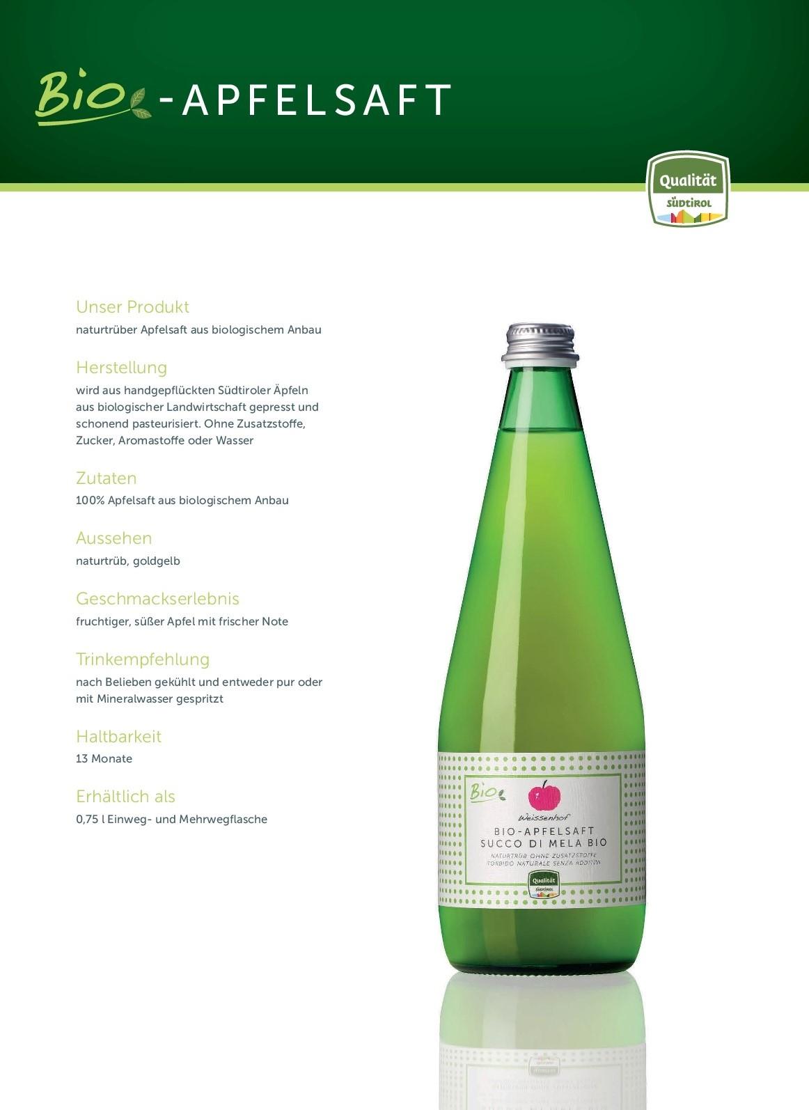 2020_Produktfolder Bio Apfelsaft_de